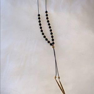 Gorjana beaded necklace with onyx